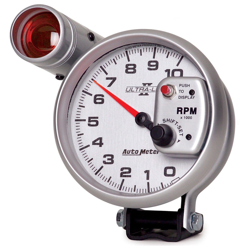 Auto Meter 4999 Ultra-Lite II 5 10000 RPM Pedestal Mount Shift-Lite Tachometer