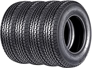 Set of 4 ST 205/75R15 Trailer Tires New Premium Radial 205 75R15 Trailer Tires 8PR Load Range D