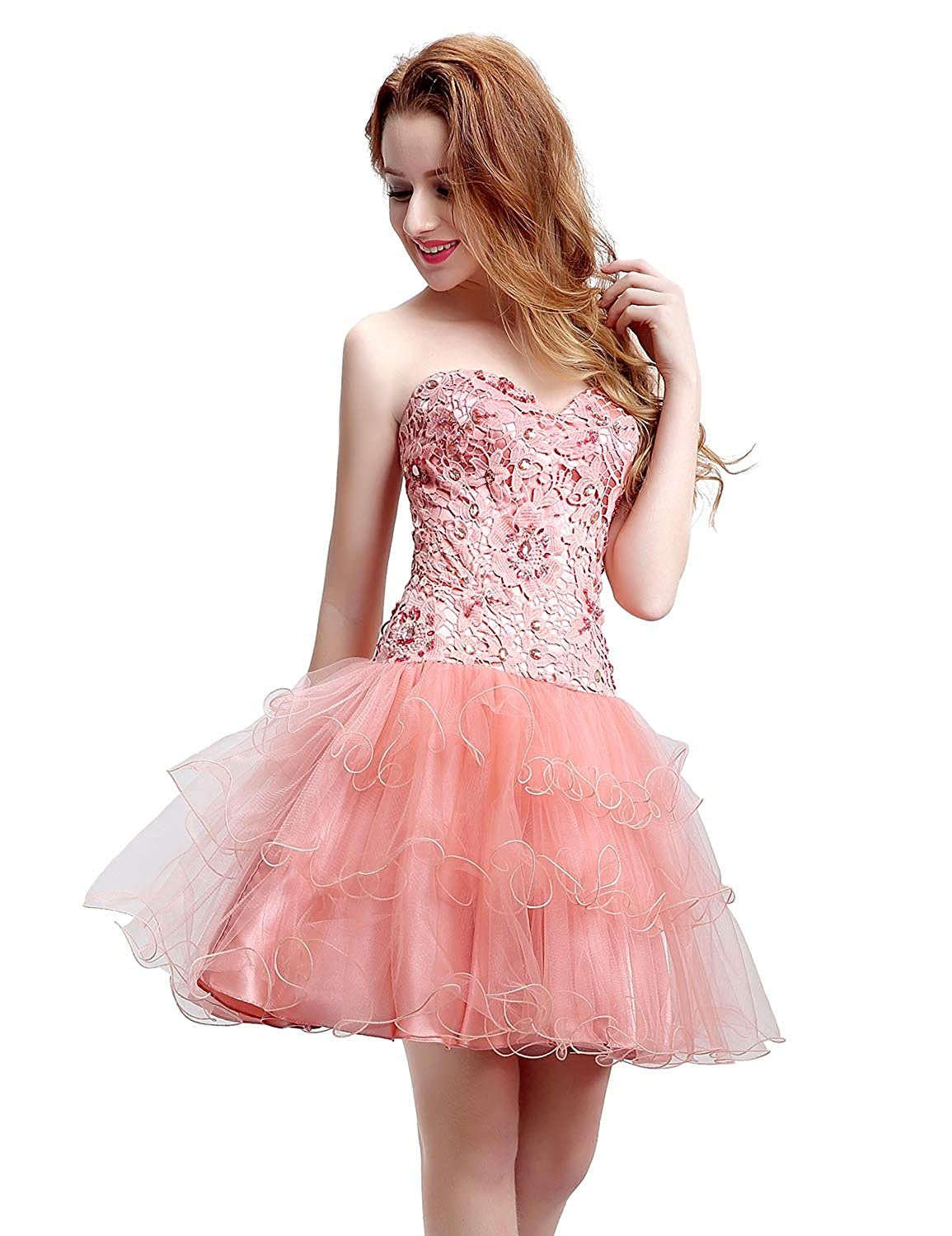 Sarahbridal Sweetheart Short Prom Gown Girls Mini Homecoming Dress Maxied Styles