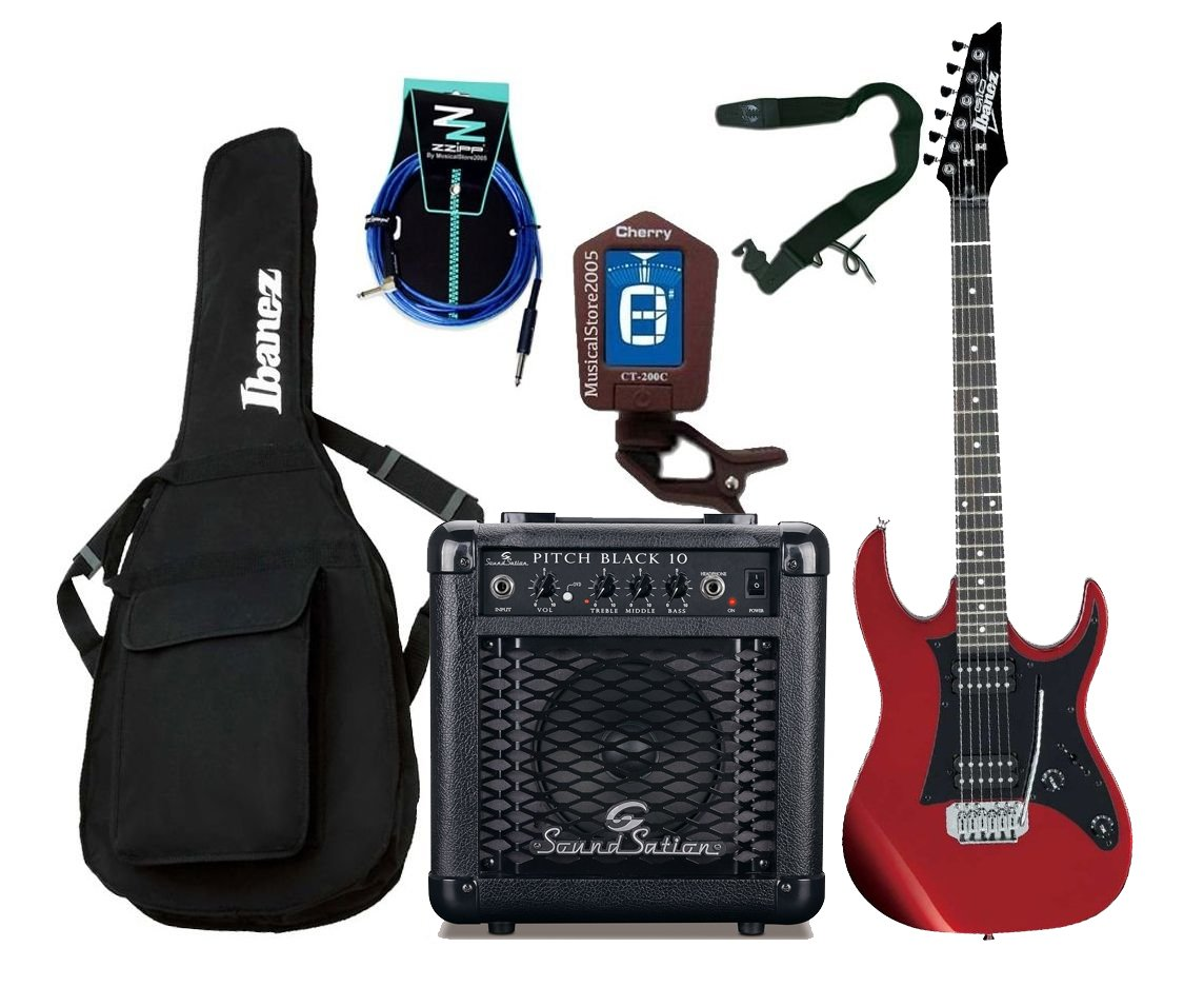 Ibanez Starter Pack guitarra eléctrica Entry Level roja/Combo/accesorios: Amazon.es: Instrumentos musicales