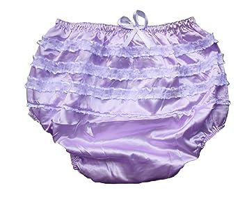 3a8adf808 Amazon.com : Haian ABDL PVC & Satin Panties Frilly Rumba Pants Color ...