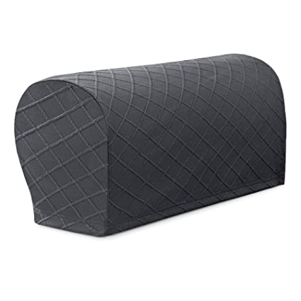 Chun Yi Set Of 2 Rhombus Jacquard Stretch Polyester Spandex Fabric Armrest Cover Anti Slip Sofa Protector Armchair Slipcovers For Recliners Arm Covers