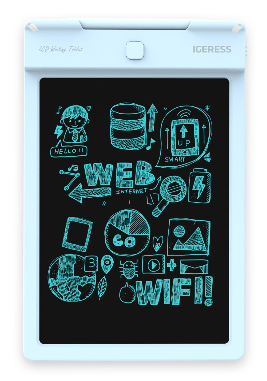 IGERESS 9-Zoll LCD-Schreibtafel Elektronische Schreibtafel Digitale Zeichenplatte Grafische Grafiktablette Langlebig /…