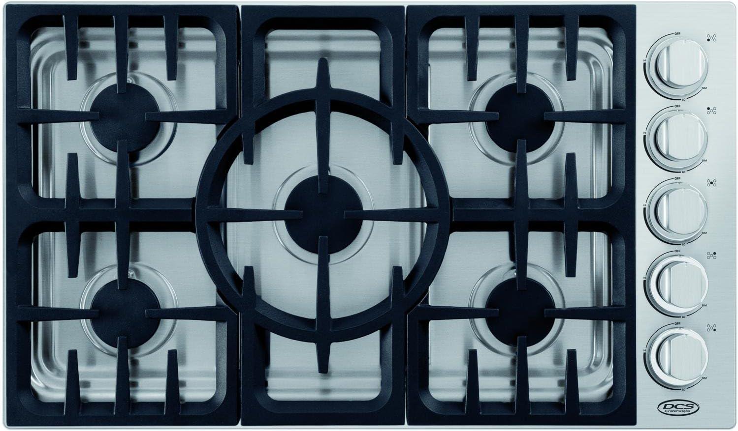DCS CDV365N 36 Stainless Steel Gas Sealed Burner Cooktop