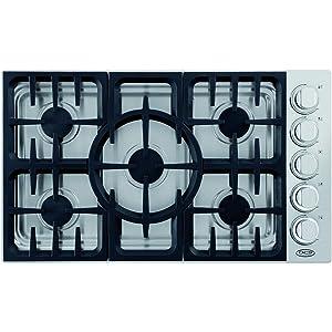 """DCS CDV365N 36"""" Stainless Steel Gas Sealed Burner Cooktop"""