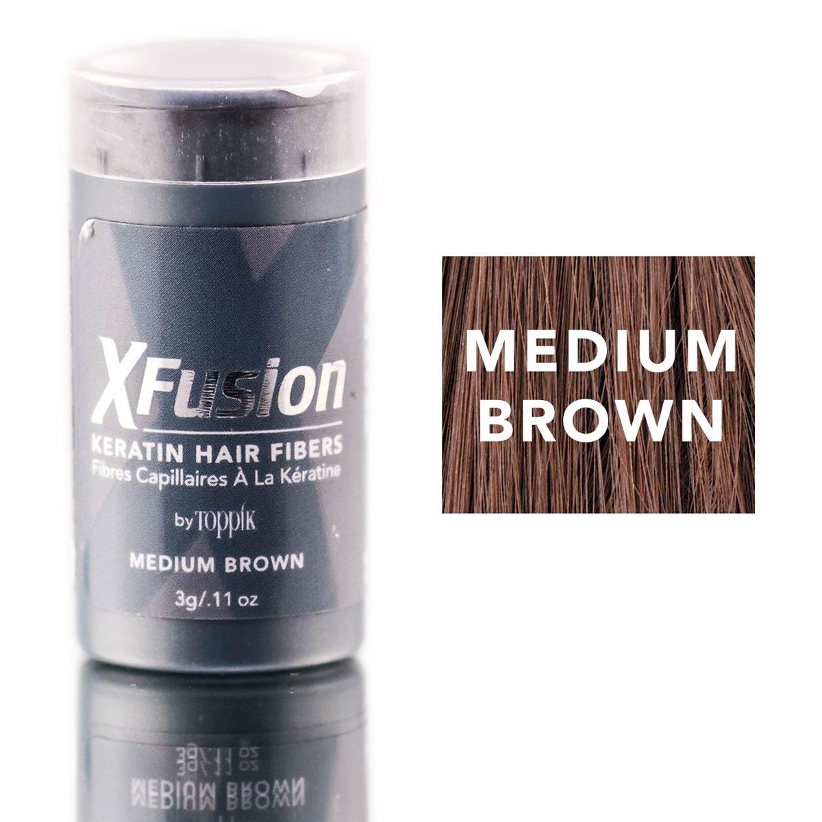 XFusion Keratin Hair Fibers, Medium Brown, Travel Size, 3g (0.11 OZ)