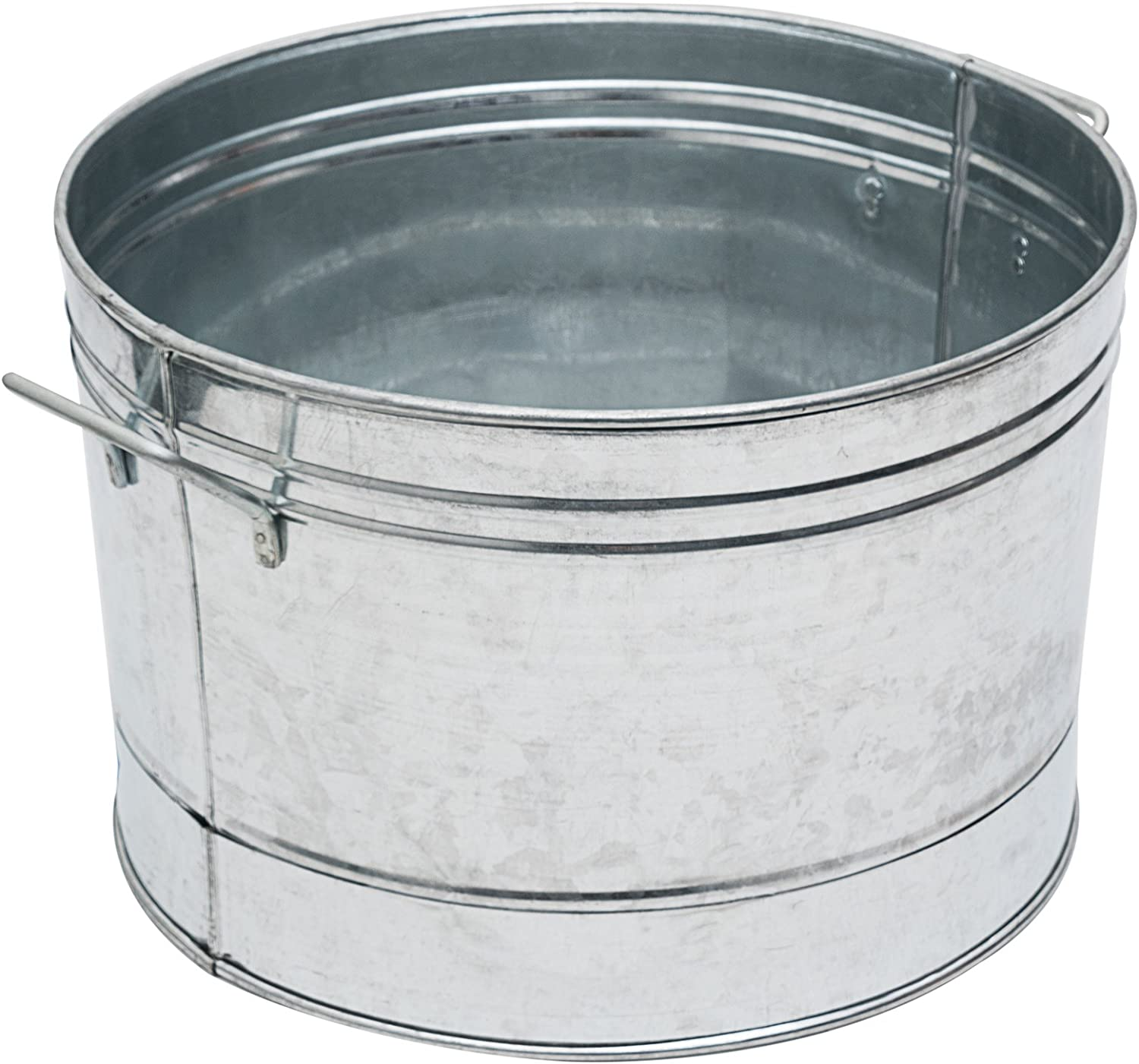 Achla Designs C-50 Round Galvanized Steel tub, Standard