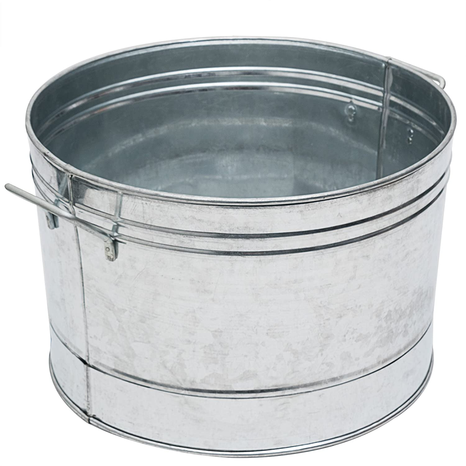Achla Designs C-50 Round Galvanized Steel Tub