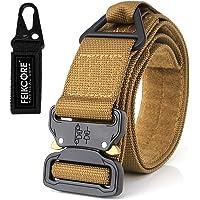 """FEIKCOR Cinturón táctico Cinturón de servicio pesado Cinturones de nylon ajustable de estilo militar con hebilla de metal Sistema Molle 1.26-1.75"""" Cinturones al aire libre"""