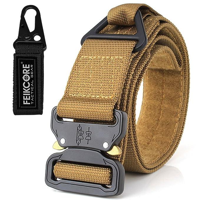Cinturón táctico Cinturón de servicio pesado Cinturones de nylon ajustable  de estilo militar con hebilla de 88f9659911395
