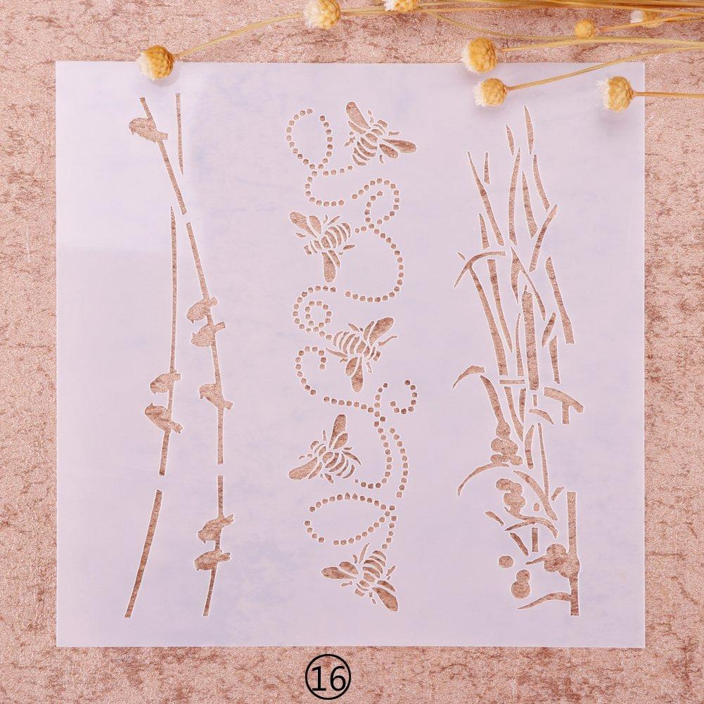 ZHUOTOP dise/ño de Navidad Ideal para Manualidades Plantilla para Pintar aer/ógrafos de Navidad
