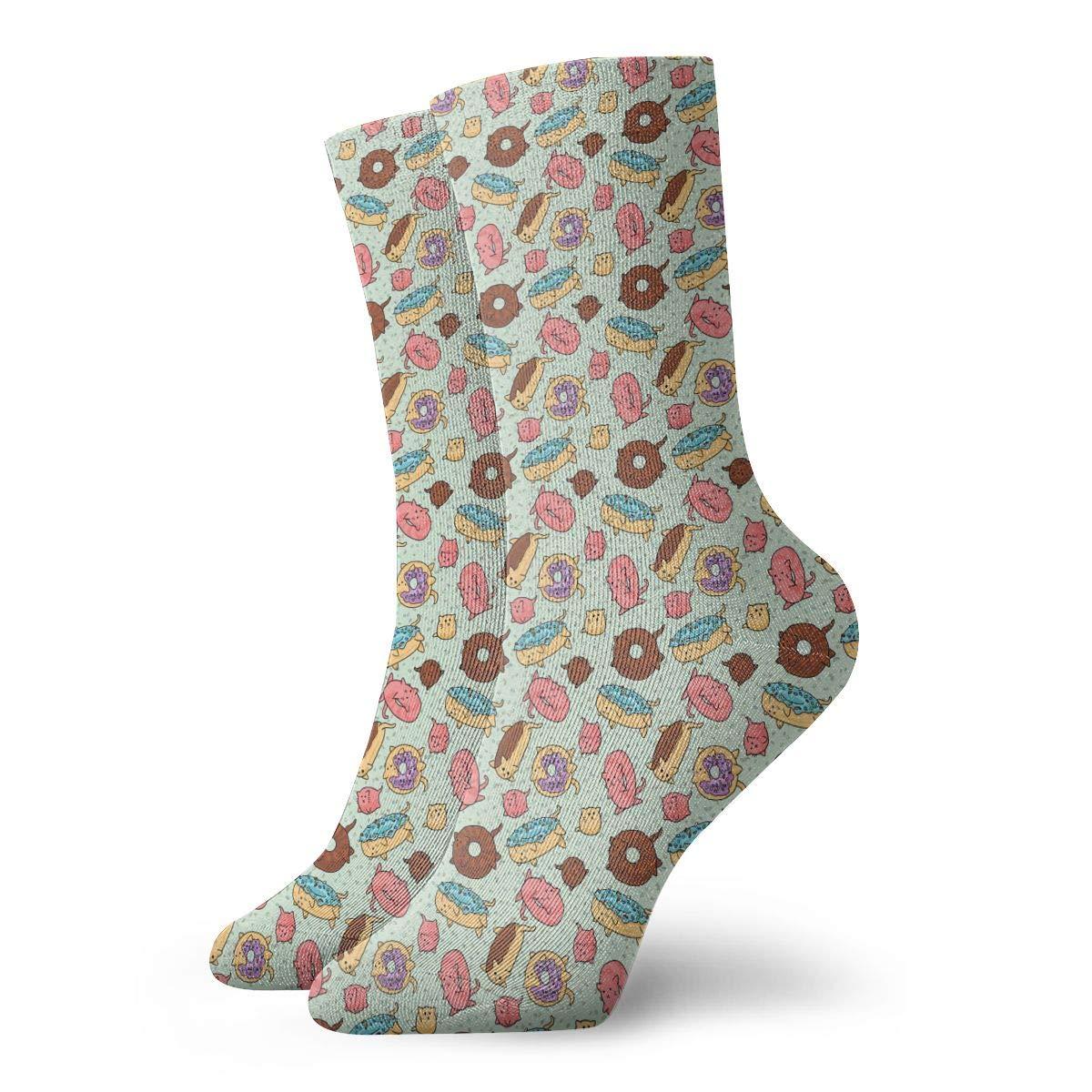 Doughnut Unisex Funny Casual Crew Socks Athletic Socks For Boys Girls Kids Teenagers
