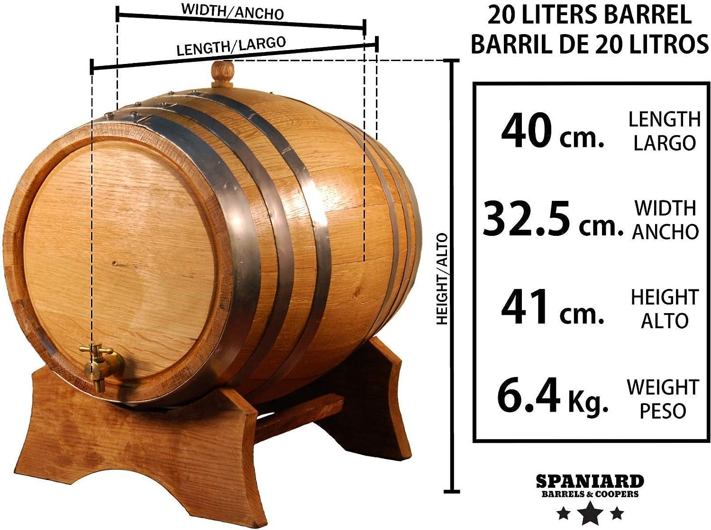 Spaniard Barrels & Coopers Barril Artesanal de Roble Americano ...