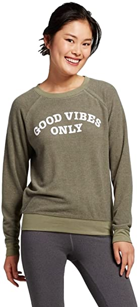 6c3ff3300b8 Grayson Threads Women s Plus Size Good Vibes Only Graphic Sweatshirt  (Juniors ) (Deep