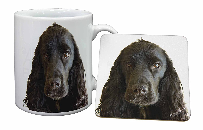Black Cocker Spaniel Dog Mug and Table Coaster, Ref:AD-SC8MC Advanta Products