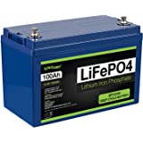 ExpertPower 12V 100Ah Lithium LiFePO4 Deep Cycle Rechargeable Battery | 2500-7000 Life Cycles & 10-Year lifetime | Built…