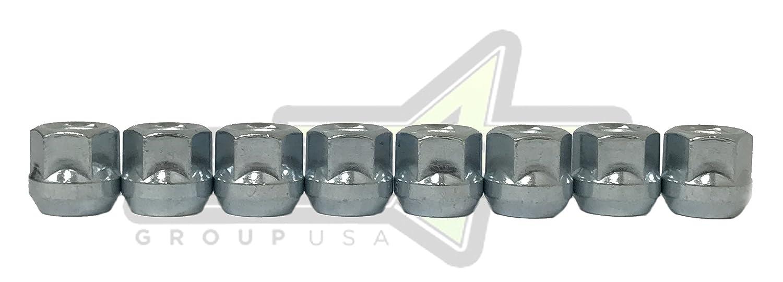 1//2-20 Installation Lug Nuts 3//4 Or 19mm Hex SET Group USA 1//2-20 Open End Lug Nuts Bulge Acorn 20