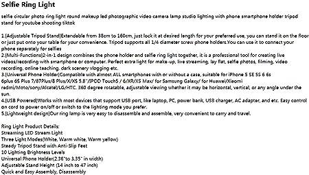Damuxin Led Fotokamera Lampe Studio Beleuchtung Selfie Rundring Licht Runde Make Up Smartphone Halter Stativ Ständer Youtube Model4 Sport Freizeit