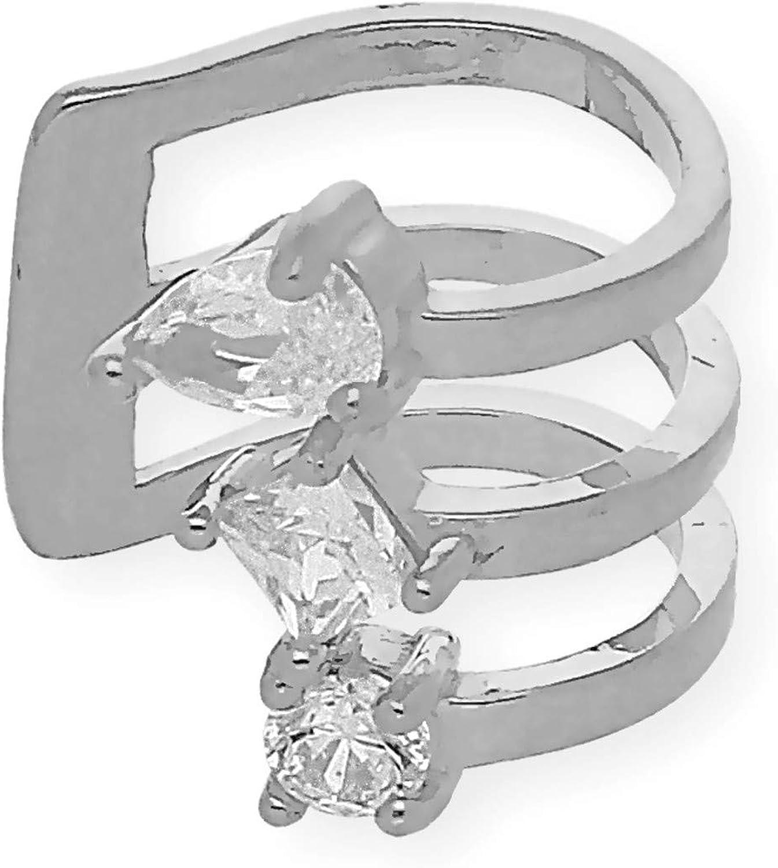 Silver /& Steel Earcuff Cera Argent