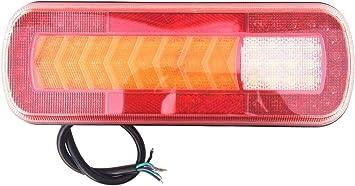 Led Rückleuchte Mit Dynamische Blinker 280x100x30 64 Leds 12v 24v Für Pkw Lkw Anhänger Auto
