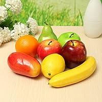 bangbang 8pcs realista artificial de pl stico Frutas Cocina Fake visualizaci n Home Alimentos Decoraci n