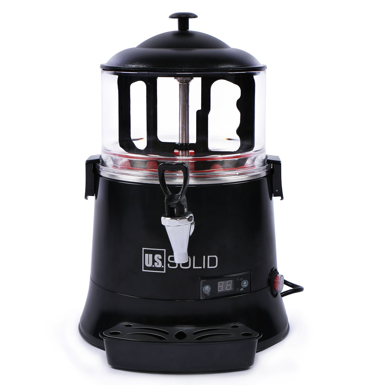 Hot Chocolate Maker- Commercial Hot Beverage Dispenser Machine, Temperature Control from 30°C to 90°C, Easy To Clean 120V Hot Chocolate Maker with Dispensing Spigot, 5 Liter, a U.S. Solid Product