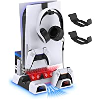 Cooling Stand Compatible with Playstation 5, YUANHOT Accessories Suction Cooling Fan, 3-Gear Cooling Fan System, Fast…