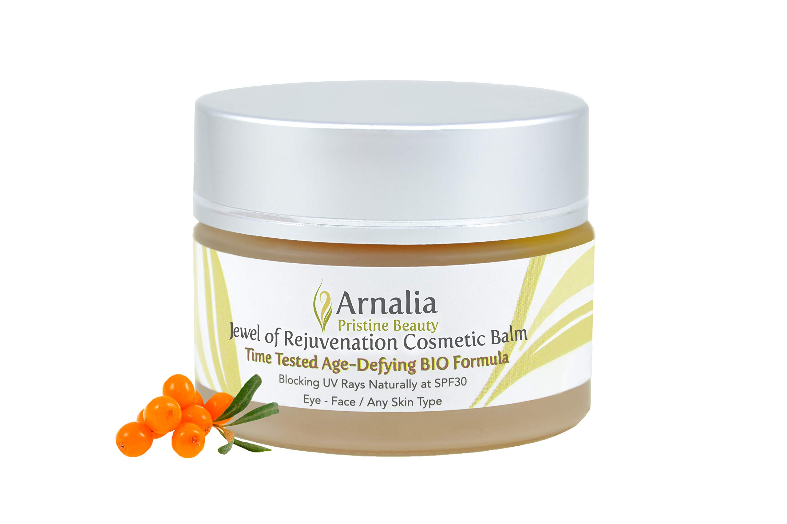 ARNALIA 100% Natural & Organic Wild Herbs, Eye&Face Cosmetic Skin Care Cream, Emollient, Anti Wrinkle, Anti Aging, Age Spot, Firming, Hydrating Balm, Collagen, Vitamin A,C,E,F Moisturizer, SPF 1.1oz by Arnalia
