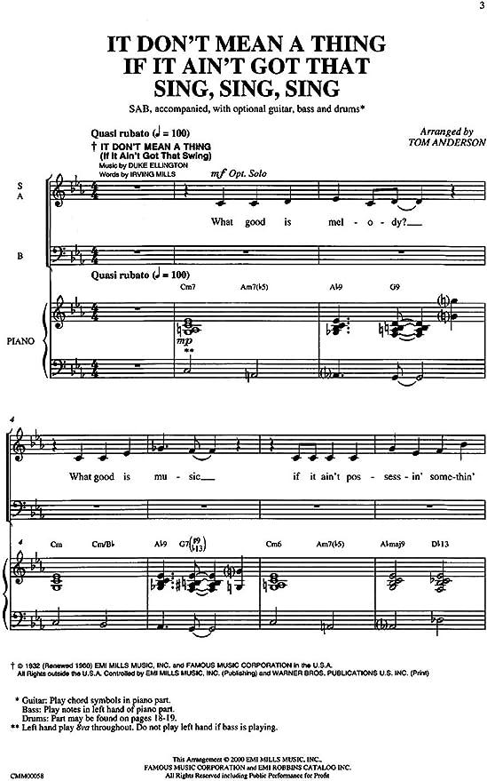Duke Ellington/Louis Prima: It Dont Mean A Thing If It Aint Got ...
