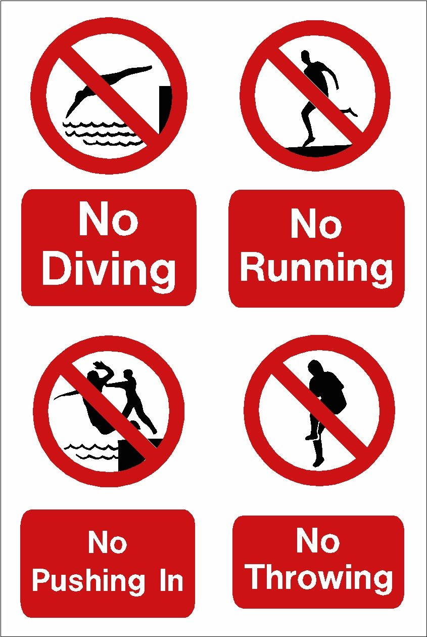 Pics photos swimming pool rules depths sign - Swimming Pool Sign No Diving No Running No Pushing In No Throwing A5 Size On Vinyl Amazon Co Uk Garden Outdoors