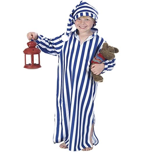 Vintage Style Children's Clothing: Girls, Boys, Baby, Toddler Night Gown and Cap Costume for Kids $31.50 AT vintagedancer.com