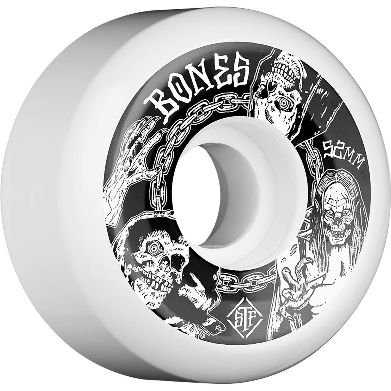 Amazon.com: Bones Wheels STF V5 Terror Nacht Ruedas blancas ...