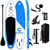 FEATH-R-LITE All Round Paddle Board 11'Length 33' Width 6' Thick Inflatable Sup with Adjustable Paddle,ISUP Travel…