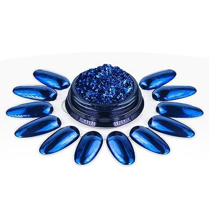 Ocibel – polvo prisma azul Nail Art – Manicura, uñas postizas y Nail Art