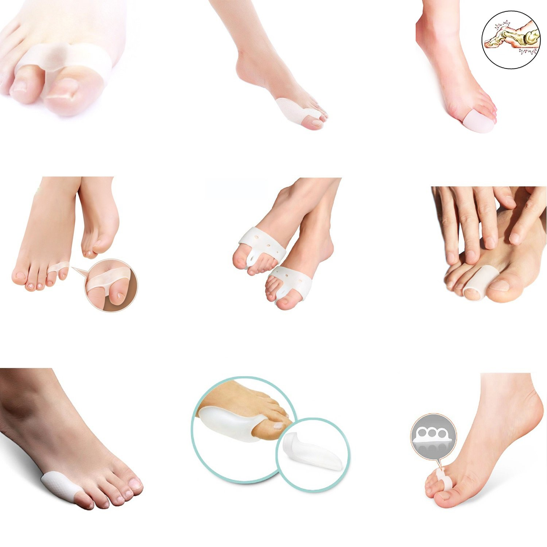 Dr.Pedi Bunion Splint Hallux Valgus Toe Pain Relief Package (Pack of 18)- Toe Straightener, bunion shield, Foot Cushions, Gel toe tube Sleeve, Toe Caps, Protector, Separator, Bunion Night Splint