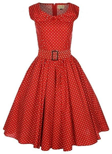 b702cbfe74d77d Lindy Bop  Hetty  Red Polka Dot Bow Shawl Collar Vintage 1950 s Rockabilly  Swing Party