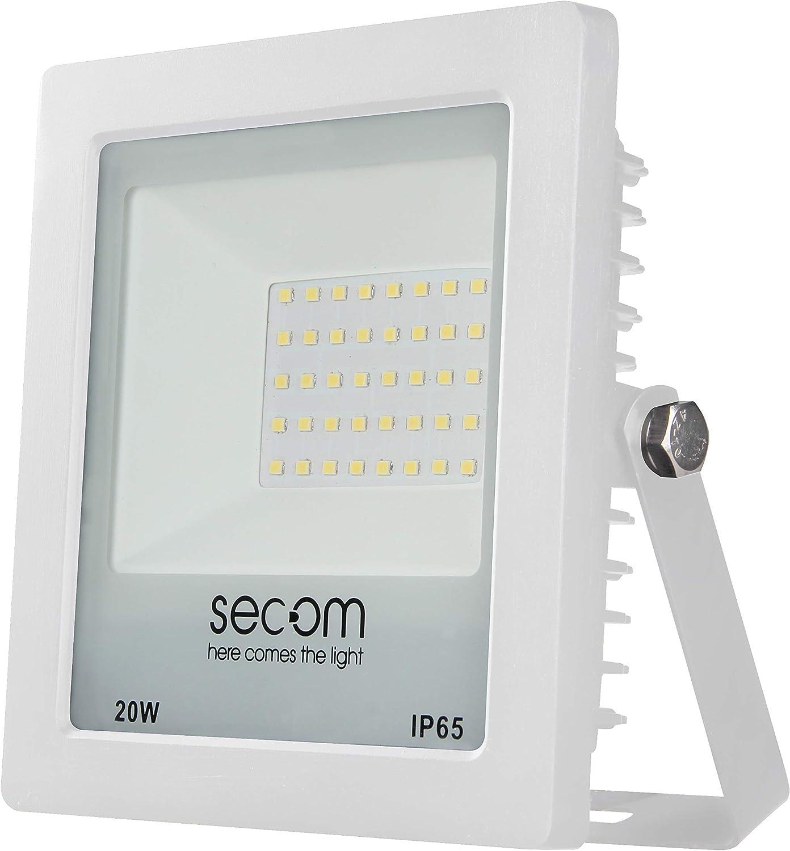 Secom TENKO Eco LED Blanco 20W, 1950 lúmenes, 5700ºK Proyector ...