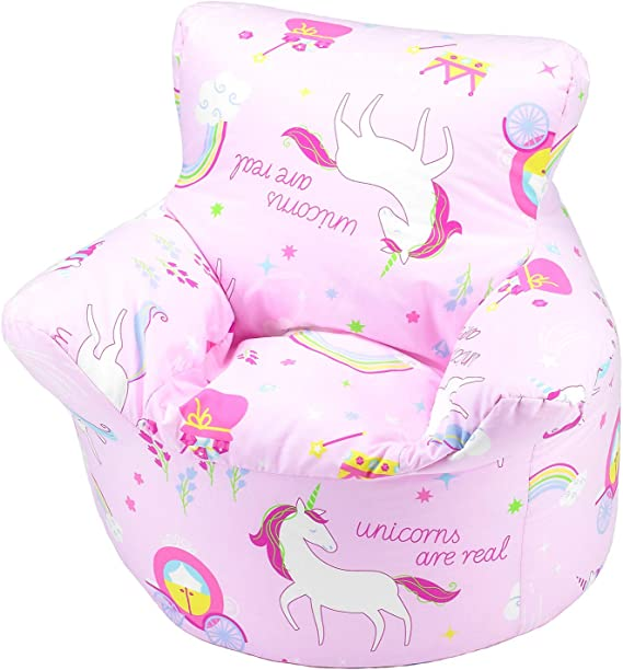 Childrens Bean Bag Chair 100% Cotton 7 Designs Childrens Bean Bag Chair Extra Small (50x50x50cm) For 0 3 Years Unicorn