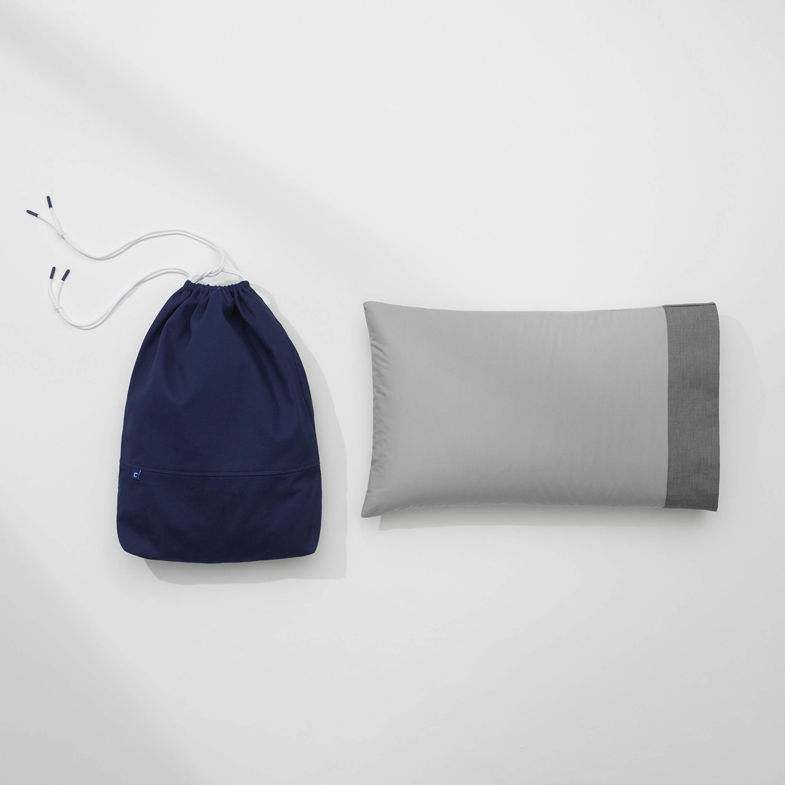 (CASPER) RED Nap Pillow, Perfect for Travel, Silk-Like Cotton Texture by Casper Sleep