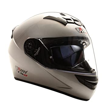 Speed Racewear LS2 Rookie FF352 Casco Integral Plata – Edición Especial Kart & Moto Casco