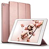 iPad Air 2 Case, ESR® iPad Air 2 Smart Case Cover Synthetic Leather and Translucent Frosted Back Magnetic Cover with Auto Wake & Sleep Function [Ultra Slim] [Light Weight] for Apple iPad Air 2 / iPad 6 (Rose Gold)