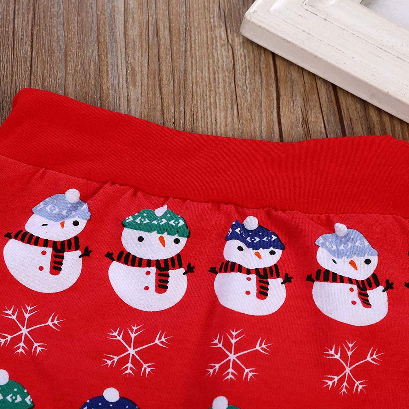 Baby Boy Christmas Romper My First Christmas Letter Long Sleeve T-Shirt Top+Snowman Pattern Pants and Hat Clothes Outfit Set