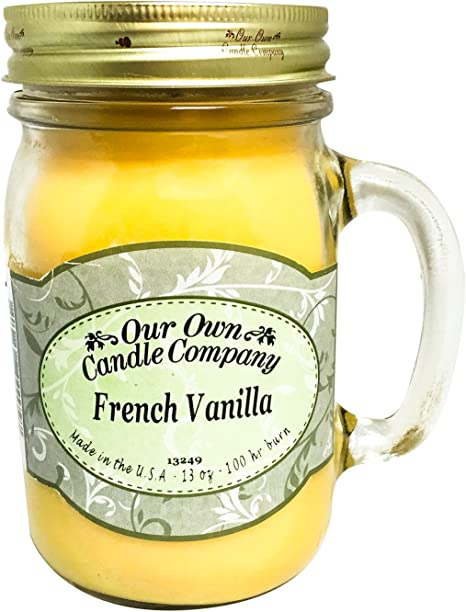 Amazon Com Our Own Candle Company French Vanilla Scented 13 Ounce Mason Jar Candle Home Kitchen