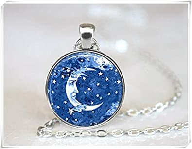 jewelry pin celestial necklace crescent pinterest