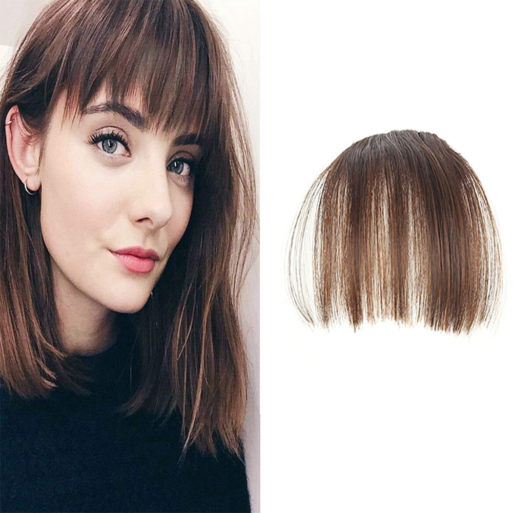 LaaVoo Flequillo Poetizo Pelo Natural Castano Oscuro Cabello 100% Humano Bangs Mini Clip Invisible Weihai LaaVoo CO. LTD