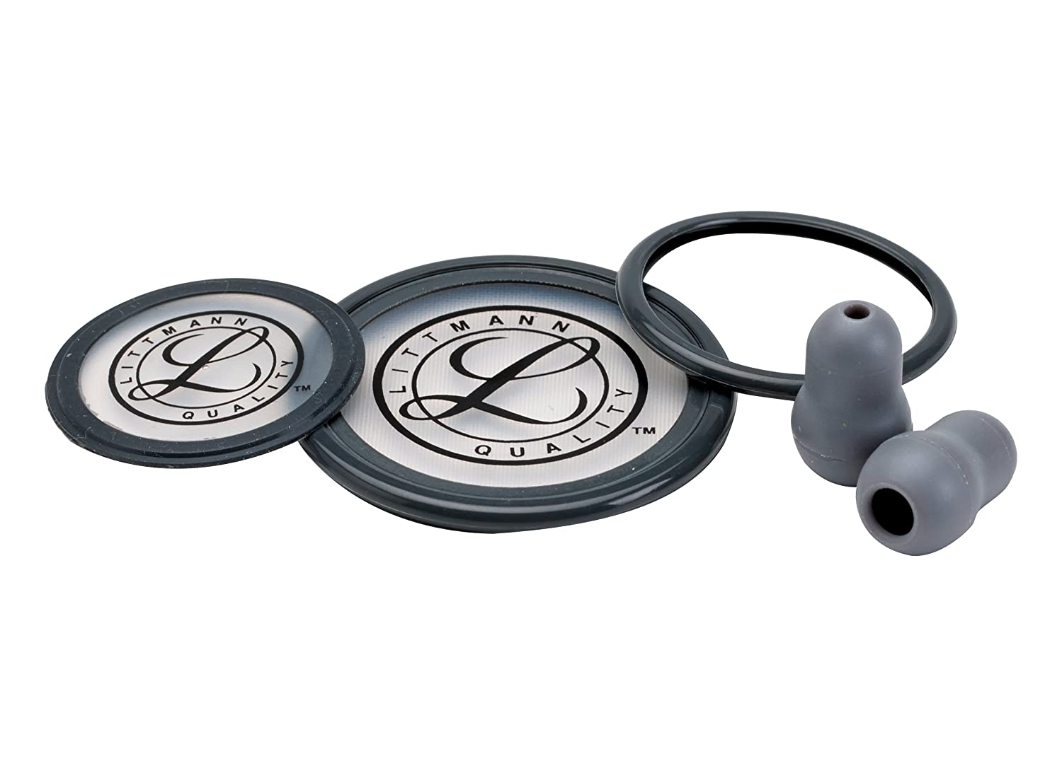 3M Littmann 40004 Cardiology III Stethoscope Spare Parts Kit, Grey