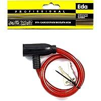 Cadeado para bicicleta com cabo de aço 50 cm, Eda, 9YH, Preto
