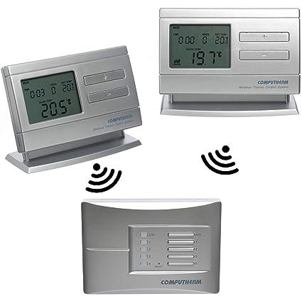 COMPUTHERM Q8RF Multi-Zona: 2 x termostatos digitales programables inalámbricos & 1 regulador móvil para calefacción, aire acondocionado y suelo ...