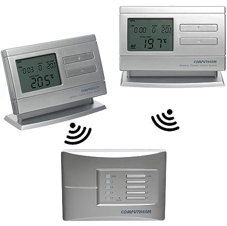 COMPUTHERM Q8RF Multi-Zona: 2 x termostatos digitales programables ...
