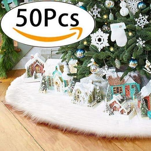 Paquete de 50 unids) Faldas arbol navidad, Au-Link 48 pulgadas de ...
